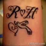 фото Тату инициалы от 19.06.2018 №199 - tattoo initials - tatufoto.com