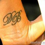 фото Тату инициалы от 19.06.2018 №232 - tattoo initials - tatufoto.com