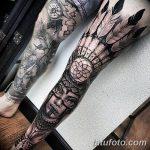 фото Тату на голени от 15.06.2018 №010 - Shin Tattoo - tatufoto.com