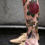 фото Тату на голени от 15.06.2018 №049 - Shin Tattoo - tatufoto.com