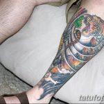 фото Тату на голени от 15.06.2018 №054 - Shin Tattoo - tatufoto.com