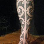 фото Тату на голени от 15.06.2018 №069 - Shin Tattoo - tatufoto.com