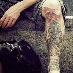 фото Тату на голени от 15.06.2018 №141 - Shin Tattoo - tatufoto.com