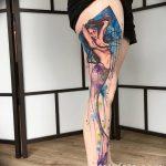 фото Тату на голени от 15.06.2018 №156 - Shin Tattoo - tatufoto.com