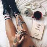 фото Тату на голени от 15.06.2018 №192 - Shin Tattoo - tatufoto.com