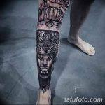 фото Тату на голени от 15.06.2018 №204 - Shin Tattoo - tatufoto.com