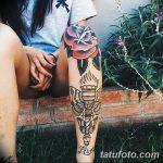 фото Тату на голени от 15.06.2018 №218 - Shin Tattoo - tatufoto.com