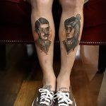 фото Тату на голени от 15.06.2018 №221 - Shin Tattoo - tatufoto.com