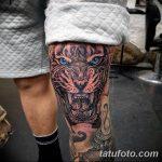 фото Тату на колене от 05.06.2018 №006 - Tattoo on the knee - tatufoto.com