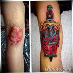 фото Тату на колене от 05.06.2018 №010 - Tattoo on the knee - tatufoto.com
