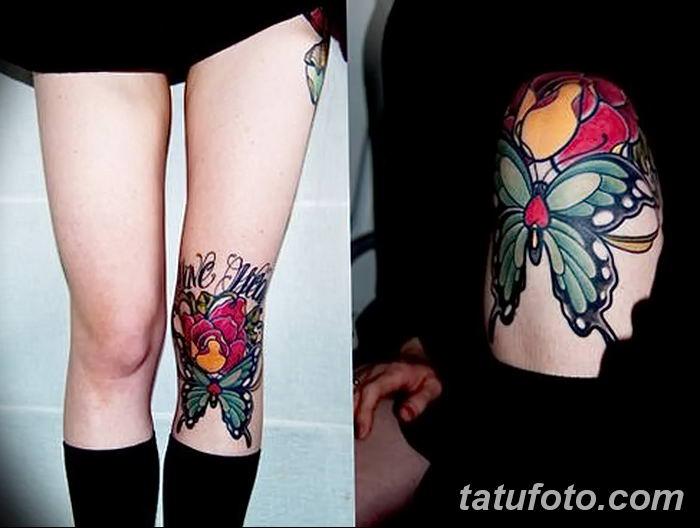 фото Тату на колене от 05.06.2018 №017 - Tattoo on the knee - tatufoto.com