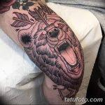 фото Тату на колене от 05.06.2018 №025 - Tattoo on the knee - tatufoto.com