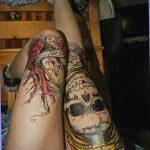 фото Тату на колене от 05.06.2018 №032 - Tattoo on the knee - tatufoto.com