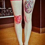 фото Тату на колене от 05.06.2018 №056 - Tattoo on the knee - tatufoto.com