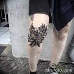 фото Тату на колене от 05.06.2018 №078 - Tattoo on the knee - tatufoto.com