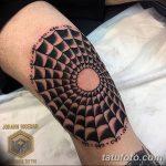 фото Тату на колене от 05.06.2018 №079 - Tattoo on the knee - tatufoto.com