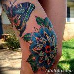 фото Тату на колене от 05.06.2018 №080 - Tattoo on the knee - tatufoto.com