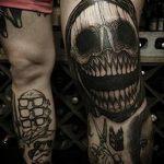 фото Тату на колене от 05.06.2018 №087 - Tattoo on the knee - tatufoto.com