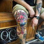 фото Тату на колене от 05.06.2018 №101 - Tattoo on the knee - tatufoto.com