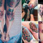 фото Тату на колене от 05.06.2018 №102 - Tattoo on the knee - tatufoto.com