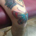 фото Тату на колене от 05.06.2018 №109 - Tattoo on the knee - tatufoto.com