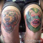 фото Тату на колене от 05.06.2018 №131 - Tattoo on the knee - tatufoto.com