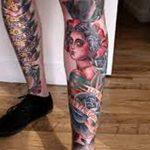 фото Тату на колене от 05.06.2018 №133 - Tattoo on the knee - tatufoto.com