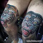фото Тату на колене от 05.06.2018 №141 - Tattoo on the knee - tatufoto.com