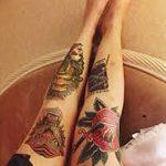 фото Тату на колене от 05.06.2018 №142 - Tattoo on the knee - tatufoto.com