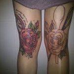 фото Тату на колене от 05.06.2018 №145 - Tattoo on the knee - tatufoto.com