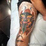 фото Тату на колене от 05.06.2018 №146 - Tattoo on the knee - tatufoto.com