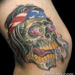 фото Тату на колене от 05.06.2018 №171 - Tattoo on the knee - tatufoto.com