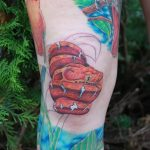фото Тату на колене от 05.06.2018 №176 - Tattoo on the knee - tatufoto.com