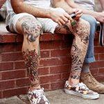 фото Тату на колене от 05.06.2018 №190 - Tattoo on the knee - tatufoto.com