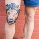 фото Тату на колене от 05.06.2018 №196 - Tattoo on the knee - tatufoto.com
