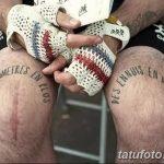 фото Тату на колене от 05.06.2018 №216 - Tattoo on the knee - tatufoto.com