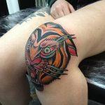 фото Тату на колене от 05.06.2018 №219 - Tattoo on the knee - tatufoto.com