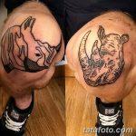 фото Тату на колене от 05.06.2018 №235 - Tattoo on the knee - tatufoto.com