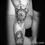 фото Тату на колене от 05.06.2018 №249 - Tattoo on the knee - tatufoto.com