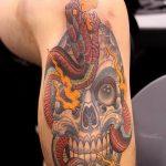 фото Тату на колене от 05.06.2018 №252 - Tattoo on the knee - tatufoto.com