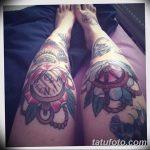 фото Тату на колене от 05.06.2018 №260 - Tattoo on the knee - tatufoto.com