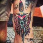 фото Тату на колене от 05.06.2018 №268 - Tattoo on the knee - tatufoto.com