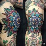фото Тату на колене от 05.06.2018 №278 - Tattoo on the knee - tatufoto.com