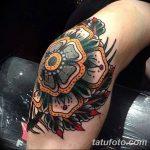 фото Тату на колене от 05.06.2018 №279 - Tattoo on the knee - tatufoto.com
