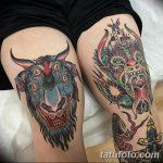 фото Тату на колене от 05.06.2018 №280 - Tattoo on the knee - tatufoto.com