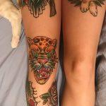 фото Тату на колене от 05.06.2018 №289 - Tattoo on the knee - tatufoto.com