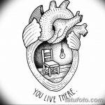 фото Эскизы тату Сердце от 20.06.2018 №003 - Sketches Tattoo Heart - tatufoto.com