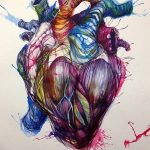фото Эскизы тату Сердце от 20.06.2018 №004 - Sketches Tattoo Heart - tatufoto.com