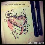 фото Эскизы тату Сердце от 20.06.2018 №012 - Sketches Tattoo Heart - tatufoto.com