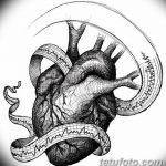 фото Эскизы тату Сердце от 20.06.2018 №022 - Sketches Tattoo Heart - tatufoto.com
